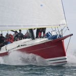 John MacClaurin's Pendragon VI. This new Davidson 70 will be going for her second straight line honors in this week's Cabo Race.
