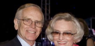 Honoree Tom Nielsen with Great Park Foundation chair Marian Bergeson.