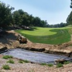 Installation of part of Pelican Hill's water management infrastructure.