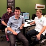 The students behind Kairos Technologies, (left to right) Leland Stephens, Trevor Holden, Jeremy Dorne, and Kunal Patel.  Photo by Sara Hall