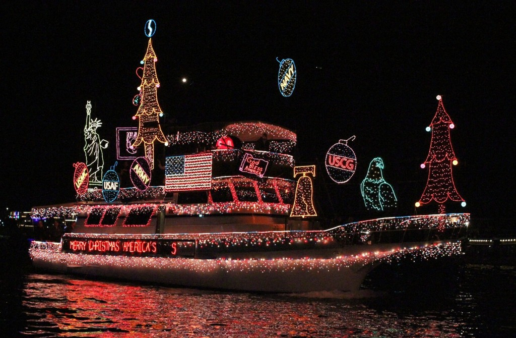 A past entry for the Christmas Boat Parade