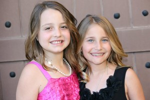 Brooke Besikof and Alyssa Antoci, the 9-year-old visionaries behind the charity, Just a Little Cloth.