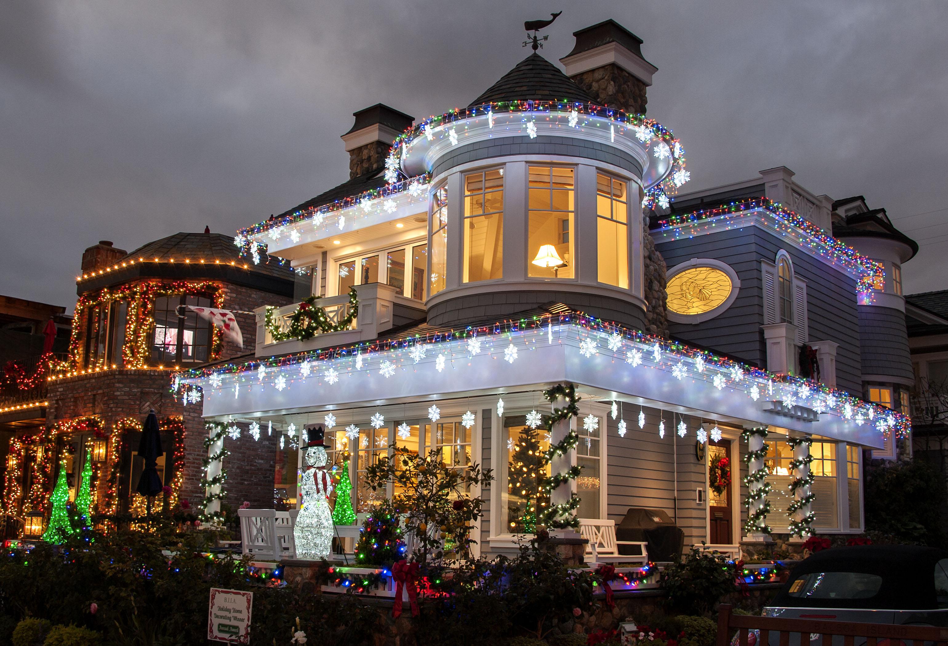 Balboa Newport Beach Christmas Lights