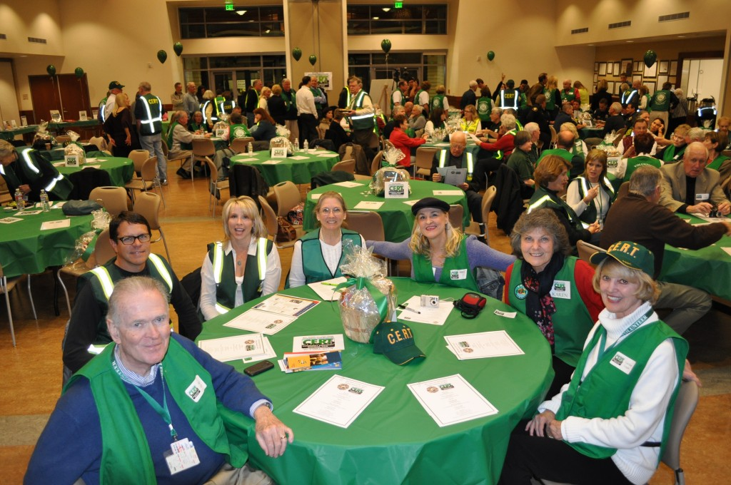 CERT volunteers at the awards dinner on Friday.