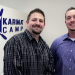 Karma Camp Executive Director Greg Sipe (right) and Communications Director Sean O'Neill in their Newport Beach offices.