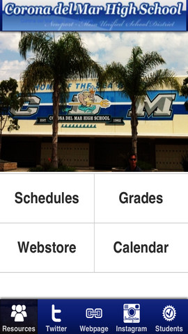 The Corona del Mar High School app