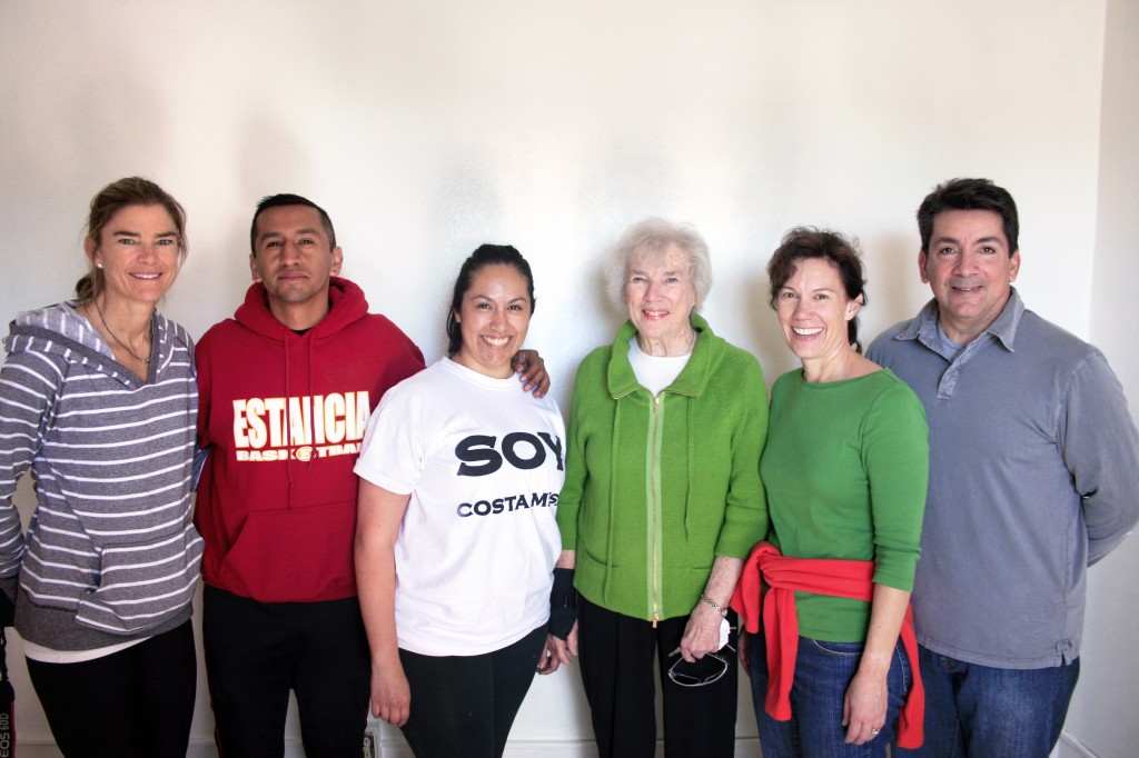 (left to right) NLYM vice president of philanthropy Vicki Wadman, SOY arts and music director Eddie Iniestra, SOY operations manager Silvia Rosales, SOY board member Jean Forbath, NLYM president Camille Strader, and SOY board member Fred Macias