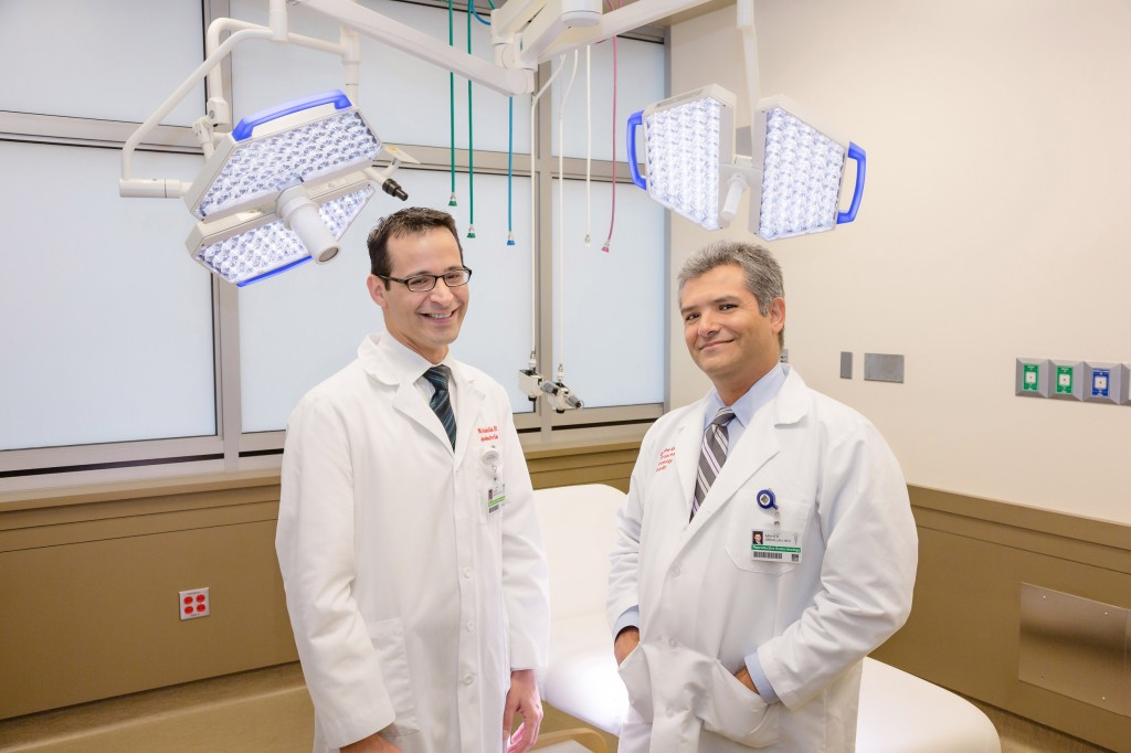 Dr. Mazin Abdullah (left) and Dr. Maher Abdullah in their new center. — Photo by Allen Taylor/courtesy of the American Reproductive Center