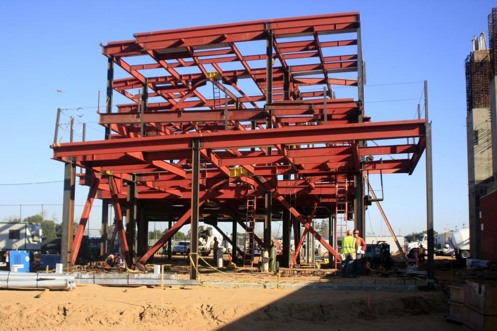 Part of the Corona del Mar school construction project. — Photo by Sara Hall