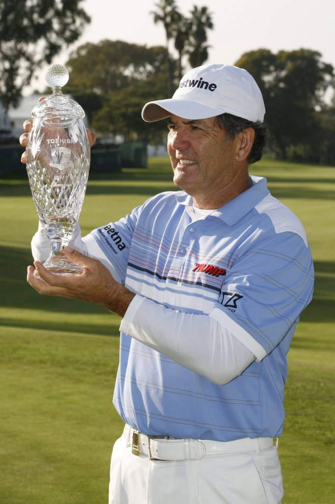 Toshiba Classic champion, David Frost finished the tournament on Sunday, shooting a 65 to defeat Fred Couples by five strokes. Frost ties the tournament record of 19-under-par 194, joining 2011 winner Nick Price as the only golfers to lead wire to wire in the event's 19 years.