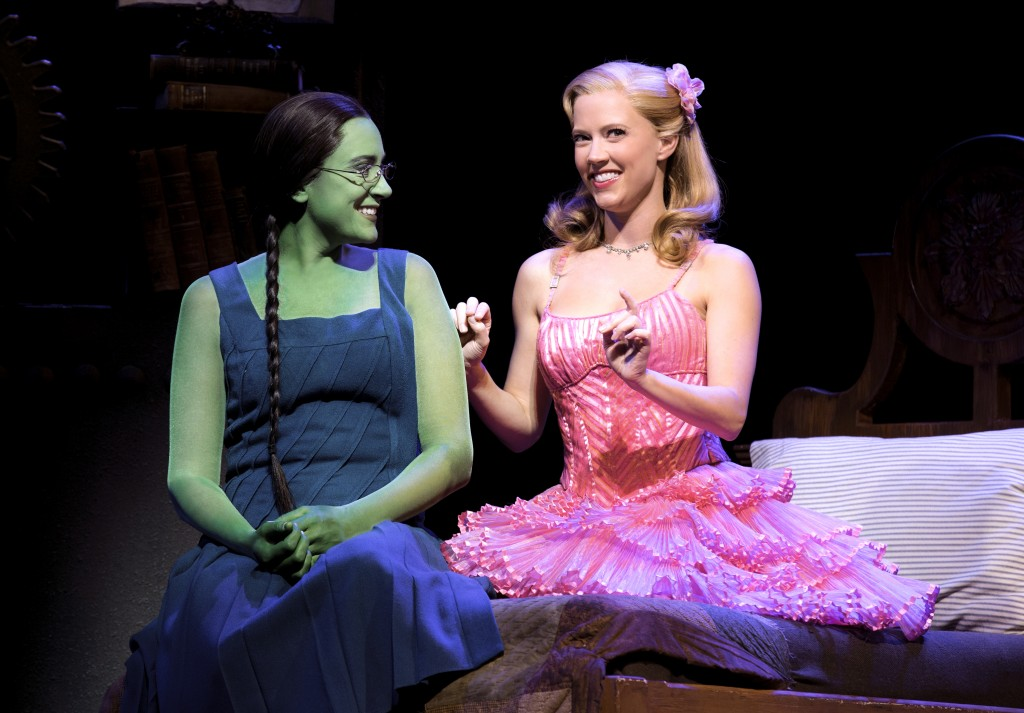 Dee Roscioli and Patti Murin as Elphaba and Glinda — Photo by Joan-Marcus