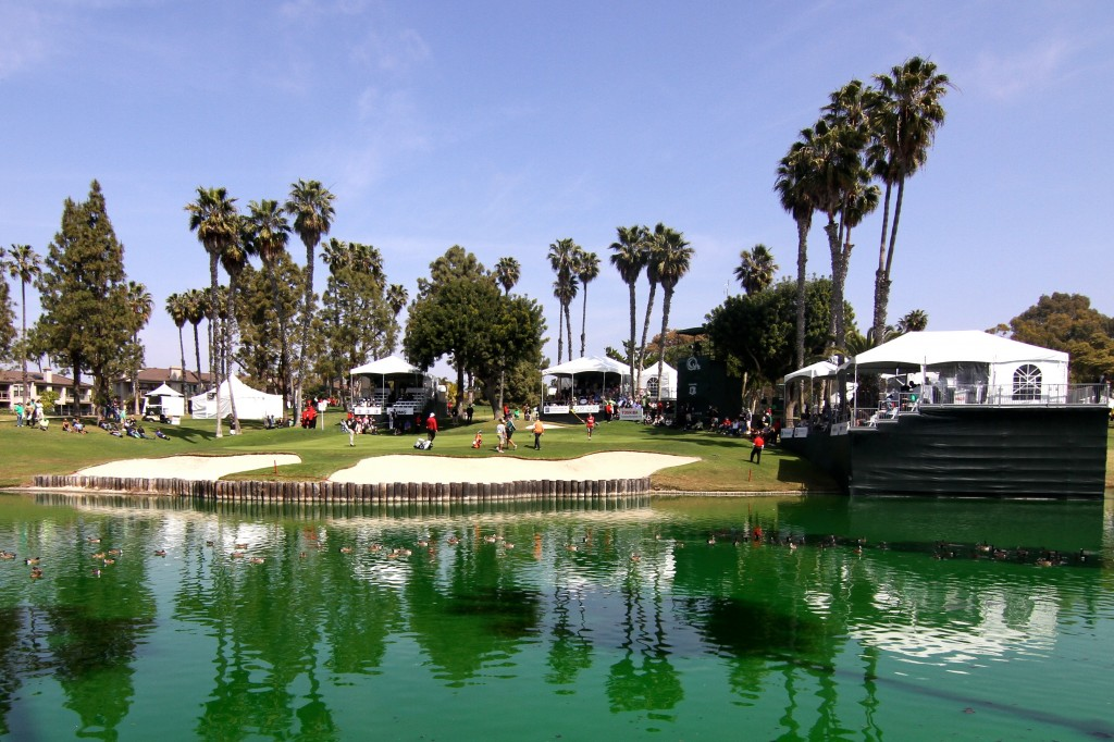 The 17th green at the Toshiba classic in Newport Beach.