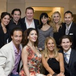 At the recent cast party: (top row, left to right) Natalie Schultz, Christopher Gialanella, Ray Eldridge, Allesia Minaeva, Shawn Weatherly Harris, Eddie Alba; (bottom row, left to right) Gordon Orsborn, Nichole Eden, Stephanie Argyros, and Auris Petrulevicius.