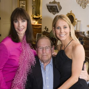 Julie, George and Stephanie Argyros - Supporters and Stephanie is one of the celeb dancers this year