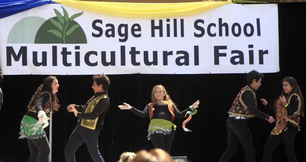 Sage Hill Persian Dancers take the stage.