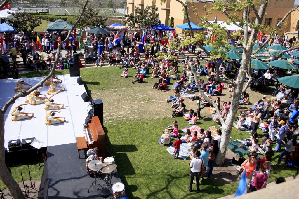 The Town Square at Sage Hill was transformed into a global village.