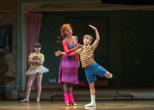 "3. Samantha Blaire Cutler (Debbie), Janet Dickinson (Mrs. Wilkinson) and Noah Parets (Billy) in ""Billy Elliot the Musical.""  Photo by Amy Boyle"