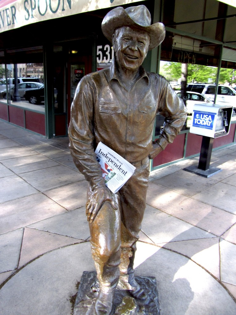 President Reagan reading the Indy in Rapid City, S.D. — Photo by Sara Hall