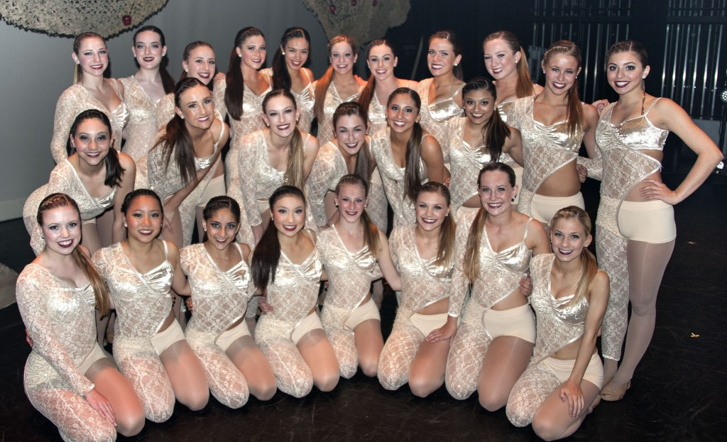 Orchesis Dance troupe before the show. — Photo by Charles Weinberg