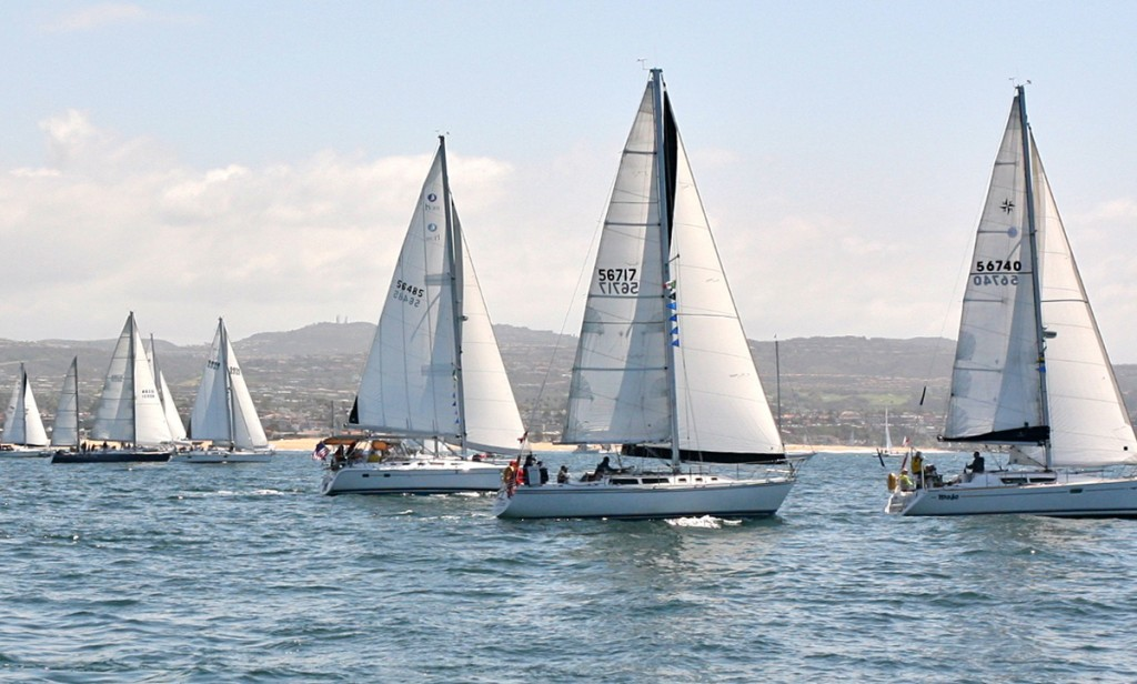 Sailboats racing in last year's Lexus Newport to Ensenada Yacht Race — Photo by Jim Collins