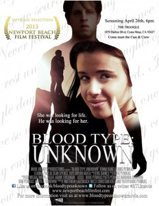 """""""Blood Type: Unknown"""" poster"""