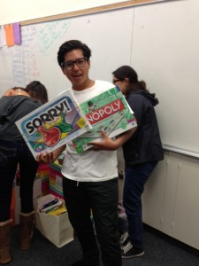 Christian Ruelas, a NHHS senior, with the games.