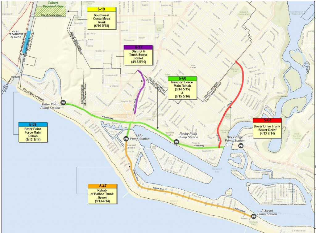 Newport Beach Local News Dover Drive Sewer Project to Start Soon