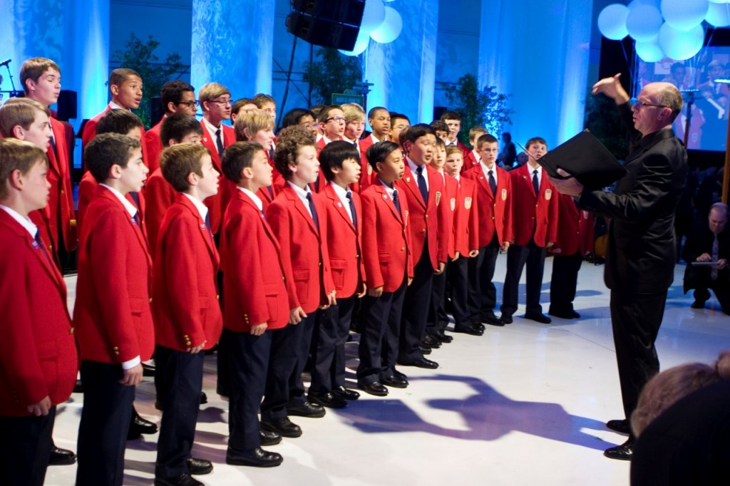 The All American Boys Choir performs for guests