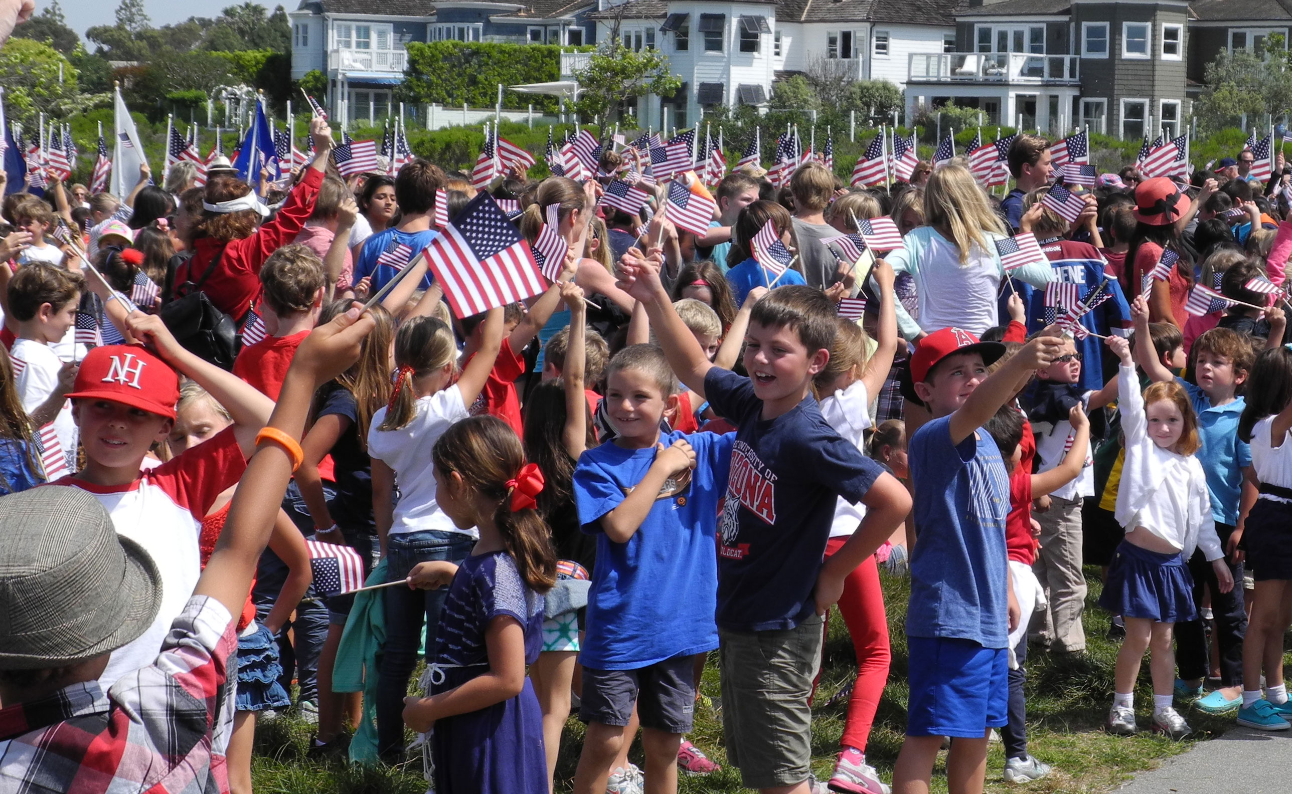 Image result for children waving american flags, photos