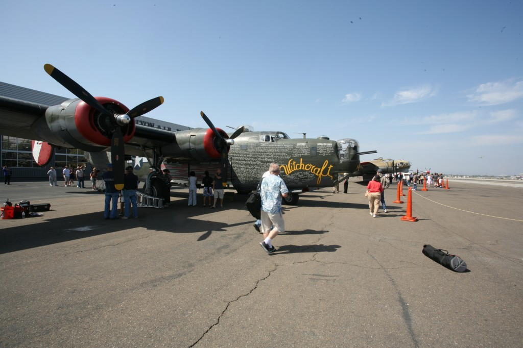 A trio of World War II bomber and fighter planes landed at Lyon Air Museum Wednesday, as part of the Collings Foundation's Wings of Freedom Tour. The freedom planes include a B-17, a B-24 and the world's one and only dual control P-51C Mustang. For $425 guests can take to the skies themselves in one of the bombers for a 30 minute flight. The Mustang can also be flown, contact the museum for pricing. The famous aircraft will depart on Sunday. For more information call (800) 568-8924 or visit collingsfoundation.org, or lyonairmuseum.org