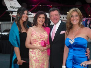 Estela and Sam Riela with their daughters Jessica (left) and Jordana Chapman at 2010 Pink Tie Ball.