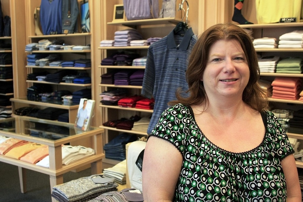 Newport Beach St. Croix Shop manager, Sandra Duff, in the store at Fashion Island.