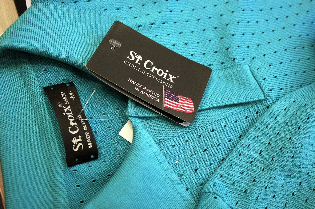 St. Croix offers quality garments made in the U.S.A