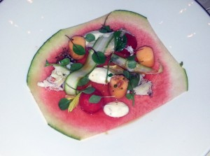 crab and melon salad from Pinot Provence