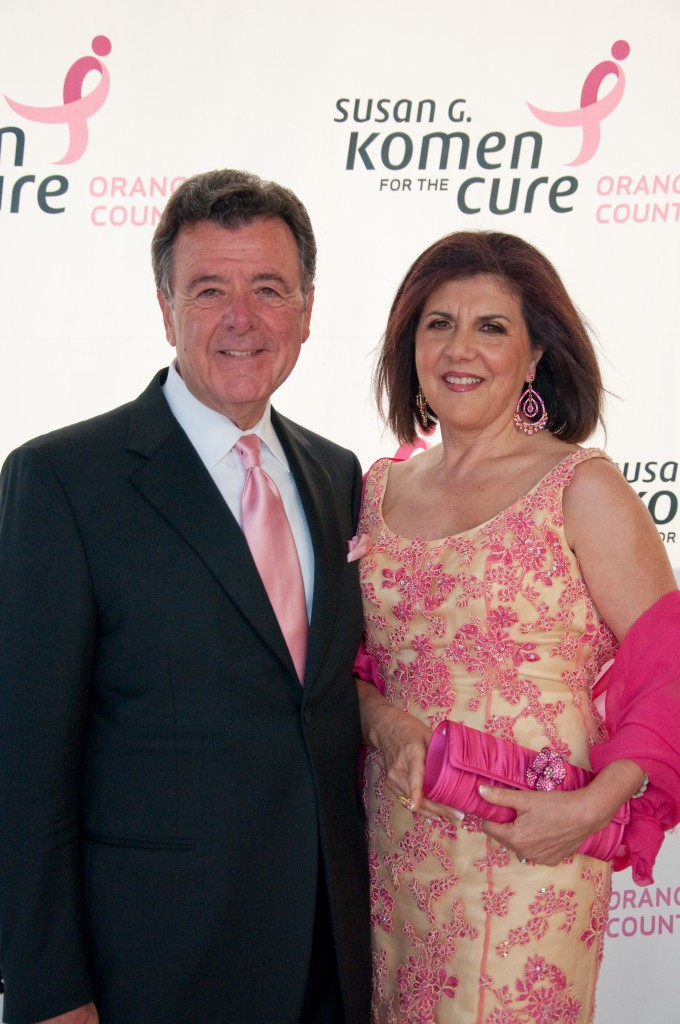 Sam and Estela Riela at the Pink Tie Ball in 2010. - Photos Courtesy of Orange County chapter of Susan G. Komen