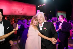 Dennis Kuhl and his wife at the Pink Tie Ball in 2012.