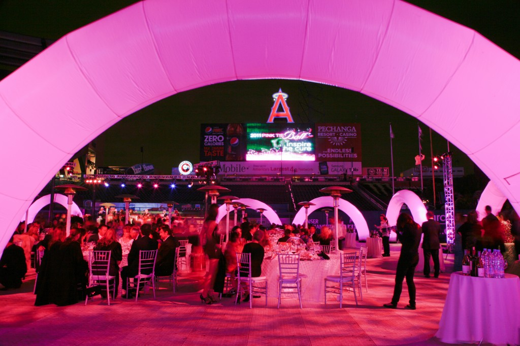 Pink Tie Ball at Angels Stadium in 2011.