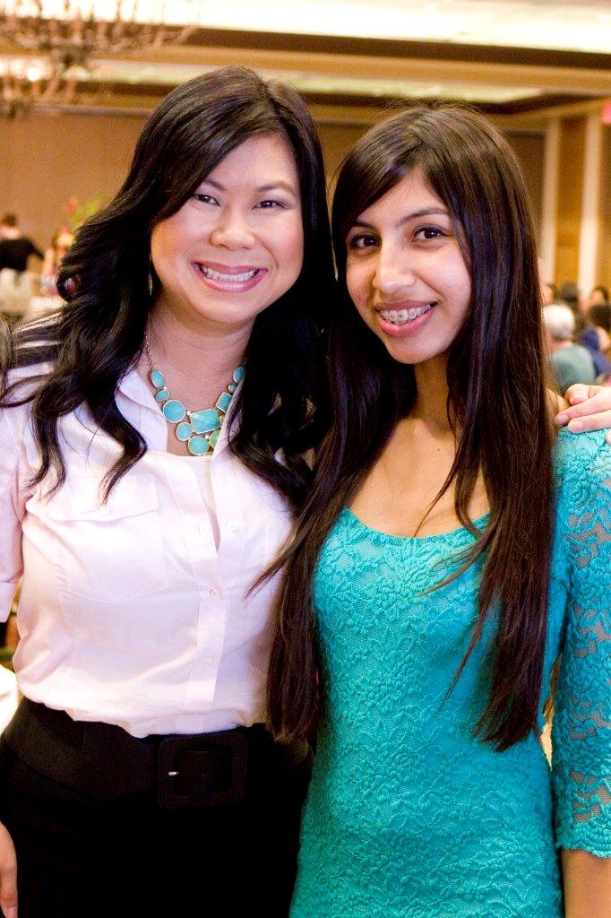 Lisa McKee (Women for Girls Leadership/event committee member), and her Mentee Brisma Corona, SDSU
