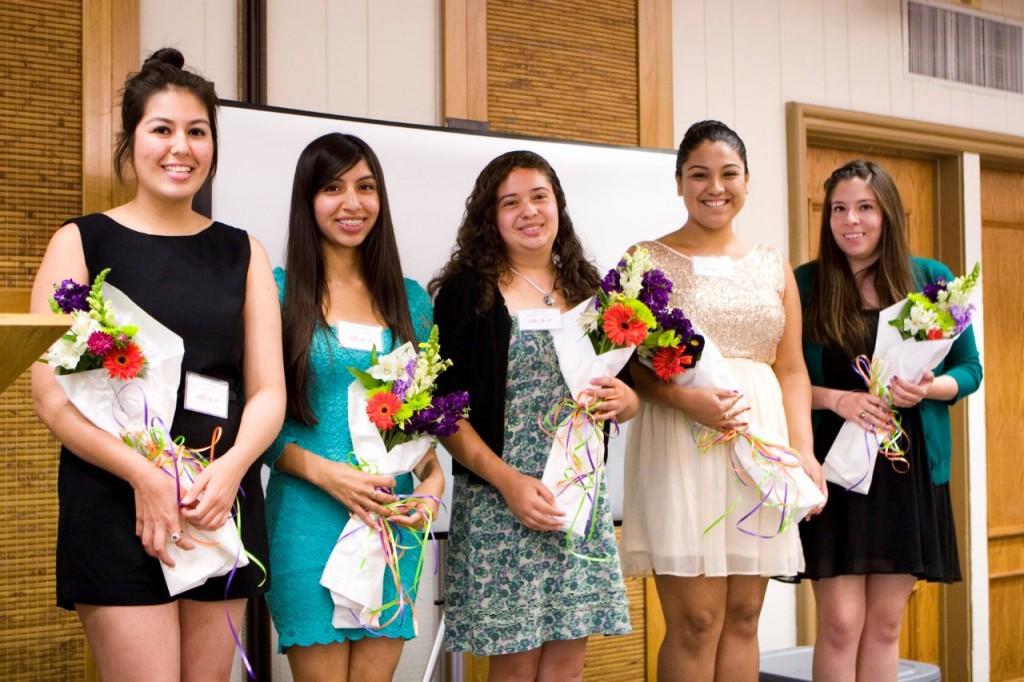 Girls Inc. of Orange County National Scholars: Diana Avila, Brisma Corona, Jessica Neri, Guadalupe Pulido, Maribel Maldonado.  — Photos by Ann Chatillon