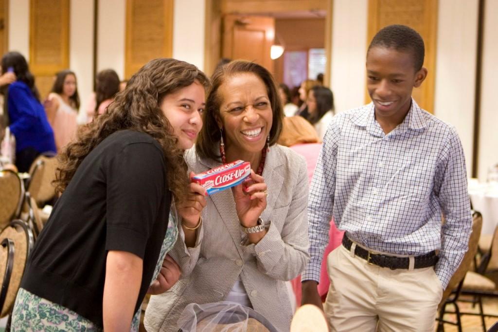 Jessica Neri, Gianna Drake-Kerrison (Girls Inc. Board President) and her son Dee Kerrison
