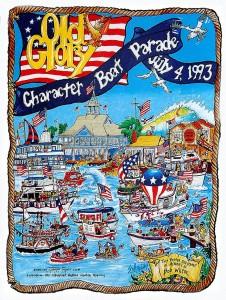 July 4 parade poster