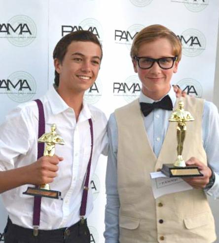 Max Peterson (PAMMY winner, Best Actor),Jack Larkin (PAMMY winner, Best Film Producer) — Photos courtesy CdM High School