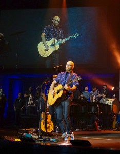 Tim Timmons performs at Mariners Church. — Photo by Luke St. Hilare