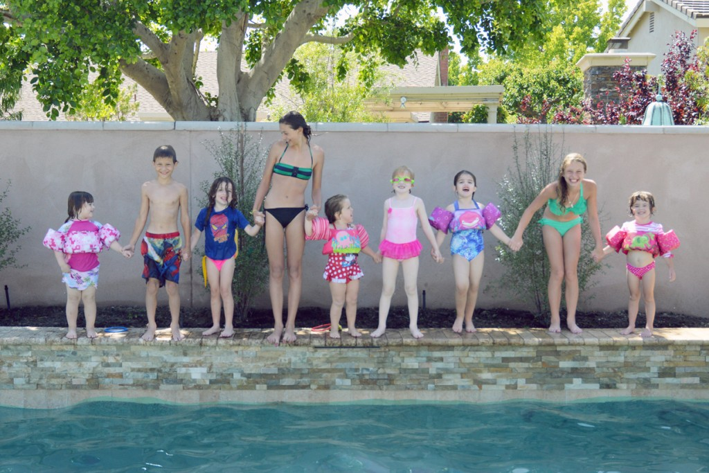 The second generation of former members of Newport Beach Brownie Troop 701, formed in 1977.   — Photo by Jill Fales