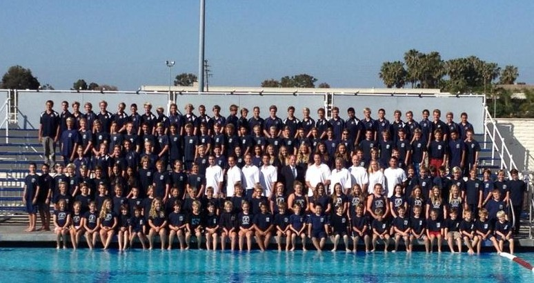 The entire group of Water polo students and coaches. — Photo courtesy NBWP