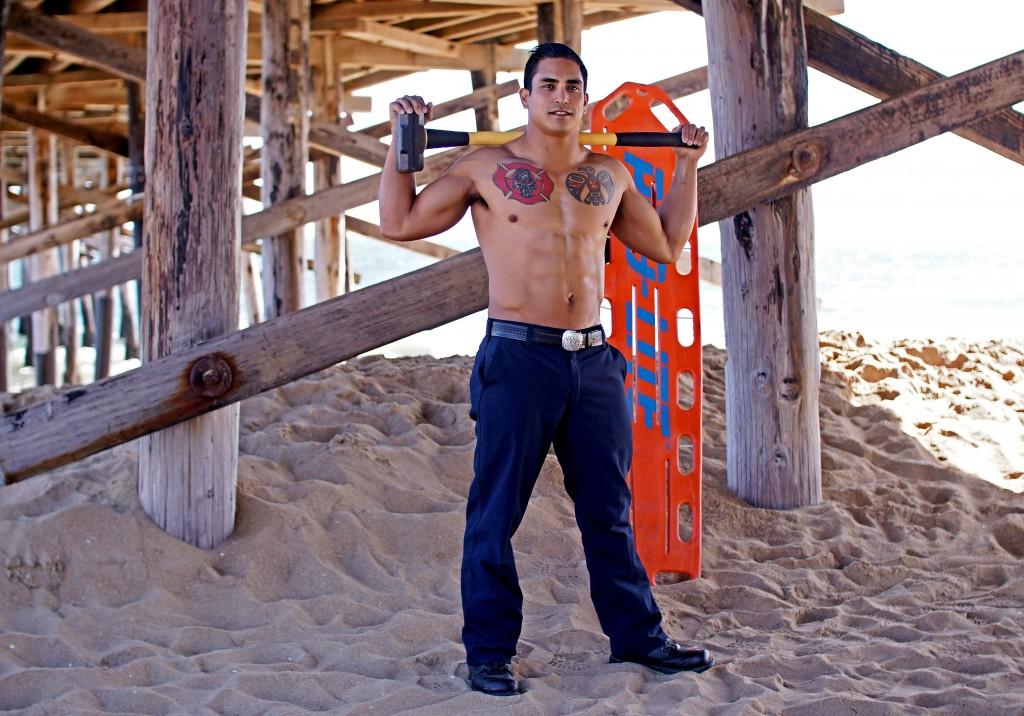 Firefighter bachelor Jimmy Gonzales.