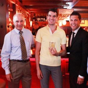 Bungalow owner Jim Walker, Cocktail Contest winner Benjamin Webb, GM David Guerrero.