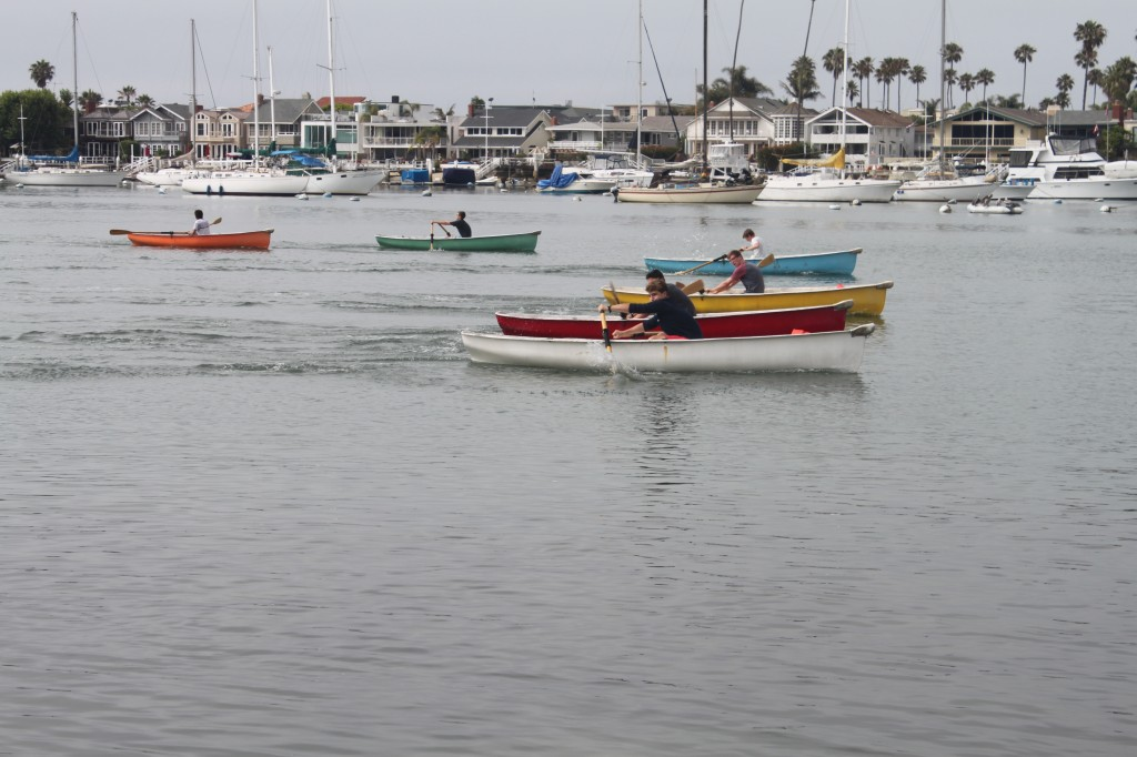 Balboa Island Yacht Club members compete in a rowing race recently.  — Photos by Krista Schildwachter