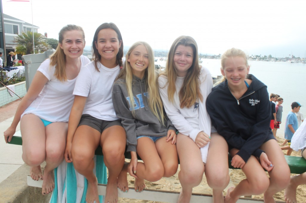 (left to right) BIYC members Kira Woods, 16, Elin Wolker, 15, Carah Reddin, 13, Isabel Hadley, 13, and Catherine Stevens, 12.