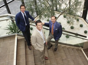 Partner Bryon Ward, Executive Vice President  Stephen Thorp, and CEO Scott Burnham of Burnham USA.